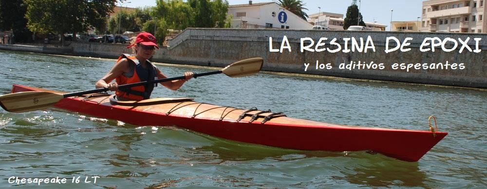 Kayak de madera y resina de epoxi, Chesapeake 16 LT, por el río Ebro ...